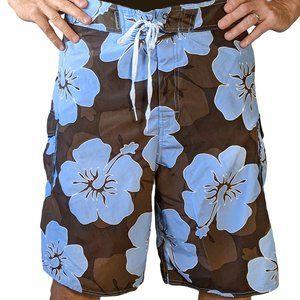 Kirra Men's Hibiscus Print Board Shorts